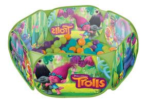 Piscina Bolinhas Trolls Disney Infantil + 100 Bolinhas