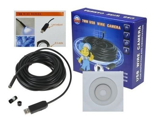 Usb Wire Camera 7mm - À Prova D