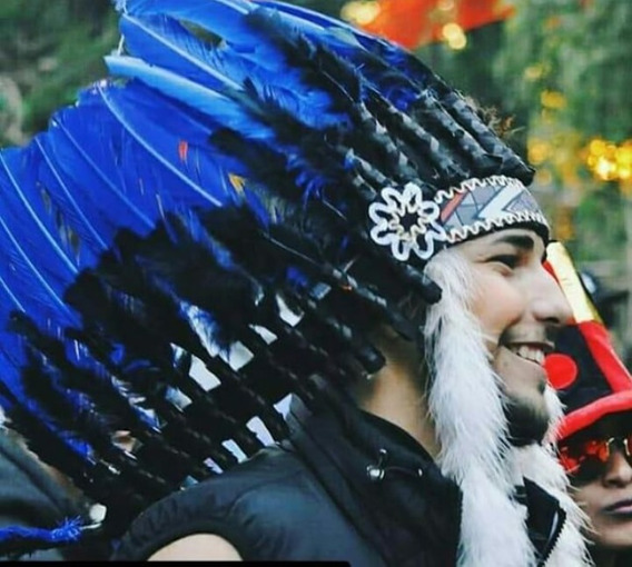 Cocar Indigena Tribo Medio