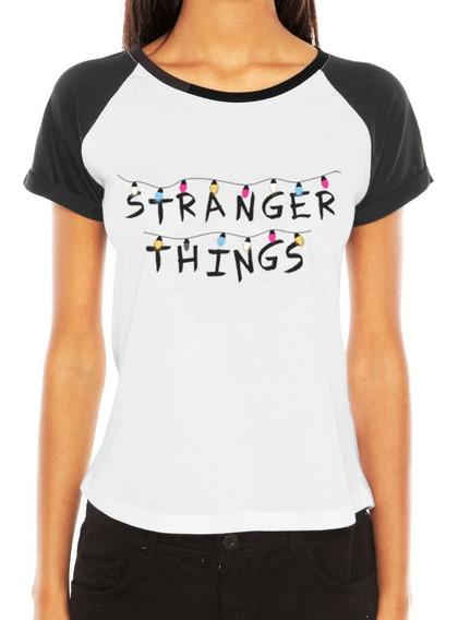 Camiseta Stranger Things Feminina Blusa Série Tumblr Seriado