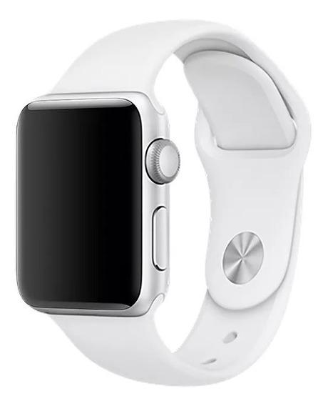 Pulseira Para Apple Watch 1 2 3 - 42 Mm M/l Sport Branca