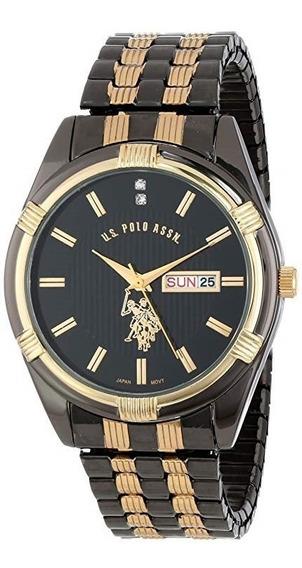 Reloj De Hombre Polo Modelo 80047 Cafe Dorado