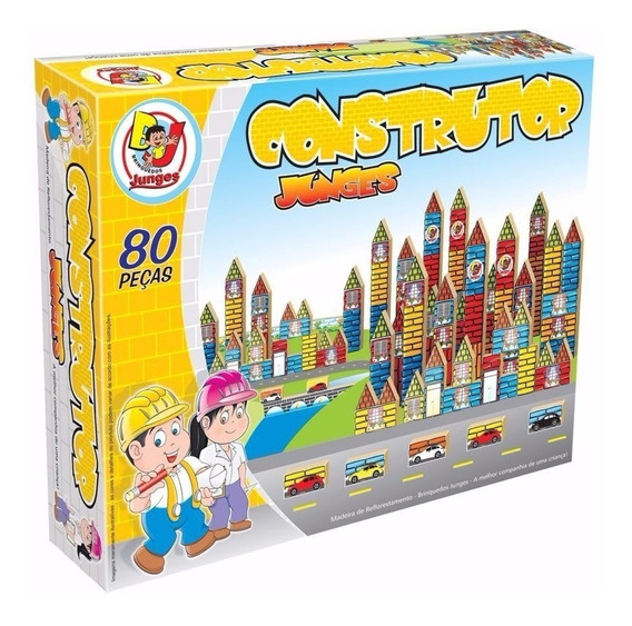 Brinquedo De Montar Educativo - Construtor 80 Peças Ref. 711