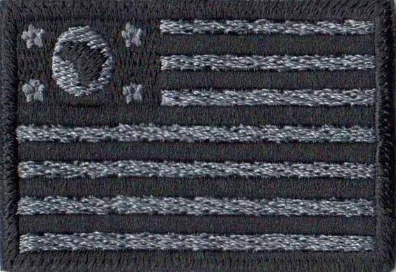 Bordado Patch Bandeira De São Paulo Negativo Militar Bd50268
