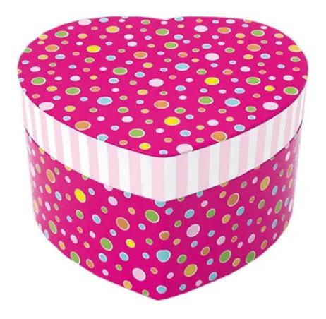 Porta Jóias Formato Coração Pink