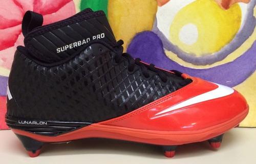 designer fashion bd0b5 52f87 New Mens Nike Lunar Superbad Pro D Football Cleats Orange Bl -   1,099.00  en Mercado Libre
