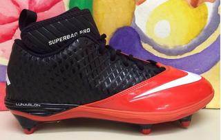 New Mens Nike Lunar Superbad Pro D Football Cleats Orange Bl