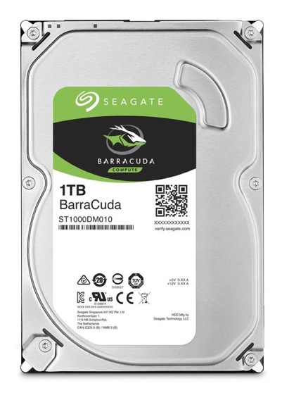 Disco Rigido Seagate Barracuda 1tb 7200rpm Sata 6 Hdd Hd Pce