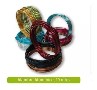 Alambre Aluminio Bisuteria 1.2 10 Mts Variedad De Colores