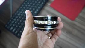 Adaptador Sony Para Lentes Nikon Em Câmera Sony E Mount