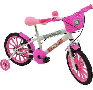 Bicicleta Infantil Feminina Aro 16 Unicorn Polikids