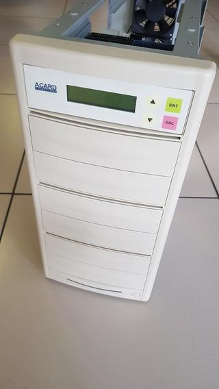 Gabinete 7 Baias Duplicador Com Placa Acard Cd Dvd Blu Ray