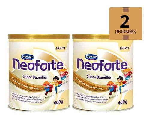Imagem 1 de 1 de Neoforte Sabor Baunilha Pack 2 Latas 400g Danone