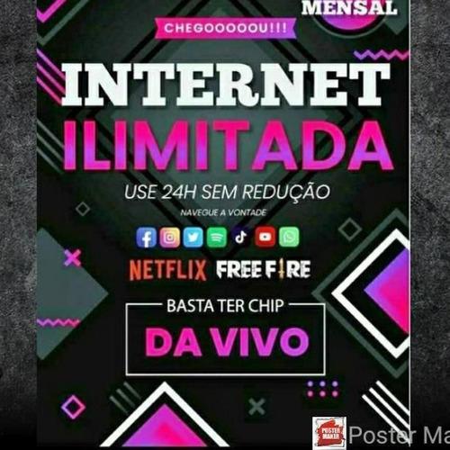 Imagem 1 de 1 de Internet Limitada Chip Vivo Whatsapp 027988665654