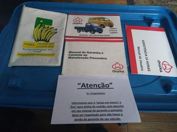 Manual Proprietário Chana Van Picape Original E Completo -