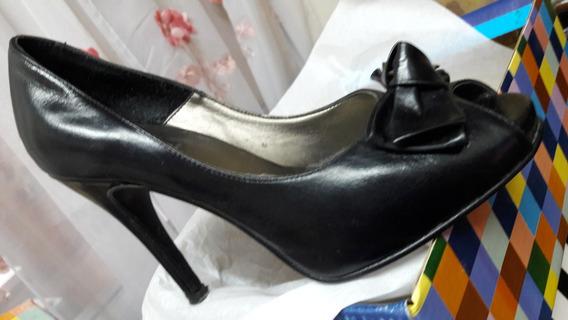 Zapatos De Vestir Clasicos Con Moño N35 Negros En Avellaneda