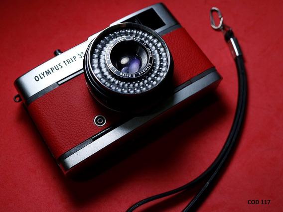 Câmera Fotográfica Olympus Trip 35 - Revisada (vermelha)