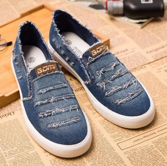Tênis Alpargata Sapatênis Jeans Masculino 2 Cores