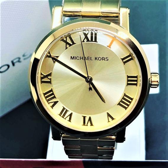 Relógio Feminino Michael Kors Dourado Mk3560 Original Aço
