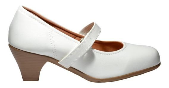 Sapato Boneca Com Salto - Leve E Confortável