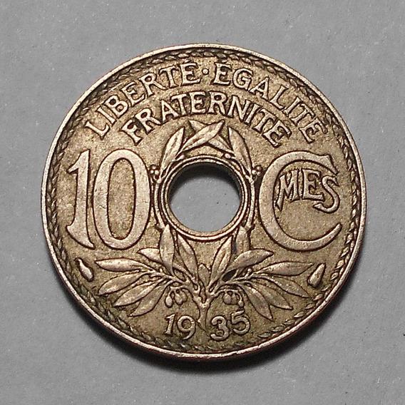 Francia 10 Centimes 1935 - Km# 866a - Joya !!!