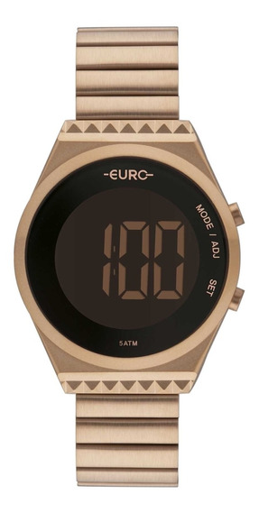 Relogio Feminino Euro Dourado Digital Eubjt016ab/4j