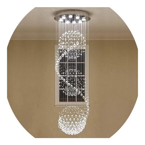 Imagem 1 de 3 de Lustre Cristal 3 Globos 60cm 2,5 Metros A 3 Metros Promoção
