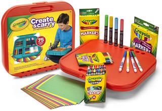 Crayola Juego Dibujo Arte 75 Pzas Plumones Colores Regalo