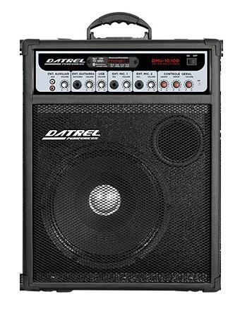 Caixa Amplificada Datrel 10 Dmu10-100 Bluetooth