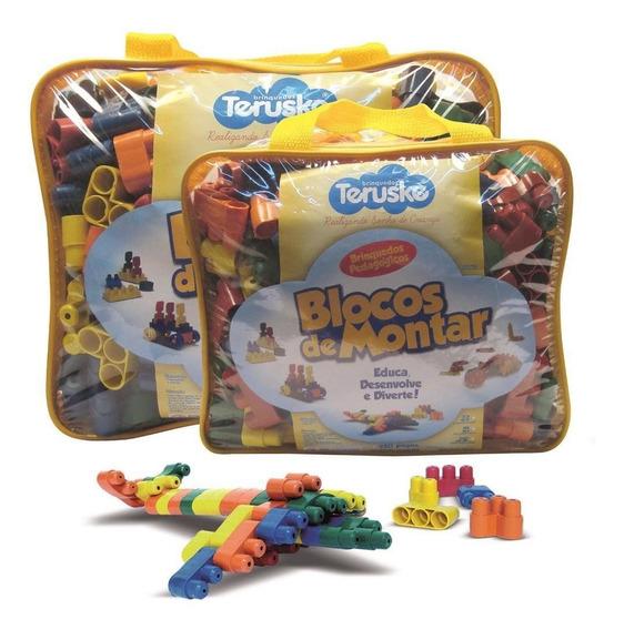 Lego De Montar Plugando Brinquedo Pedagógico 250 Peças