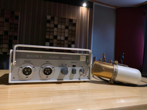 Microfone Vintage Tube Sony C37a Restored Ac. Trocas