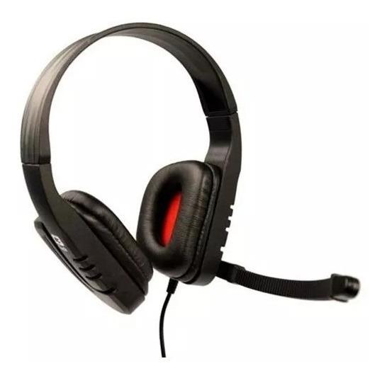 Headset Gamer C3tech Mi-2558rb Predator C/microfone Preto/ve