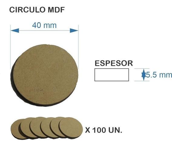 Figura Círculo Disco Fibrofacil Mdf 4 Cm*5.5 Mm*100 Un Ofert