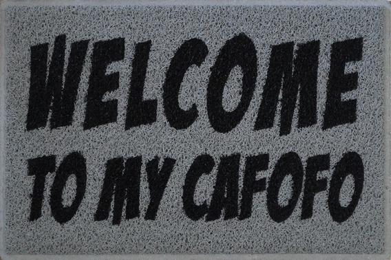 Tapete Capacho Personalizado Divertido Welcome To My Cafofo