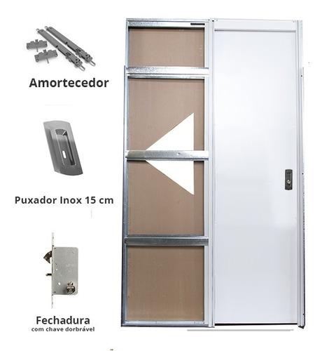 Porta Embutida Na Parede   Modelo Unique Side 70cm   Otimizi