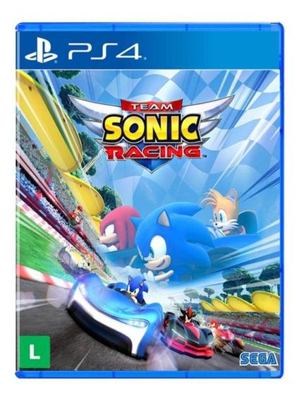 Jogo Lacrado Midia Fisica Team Sonic Racing Para Ps4