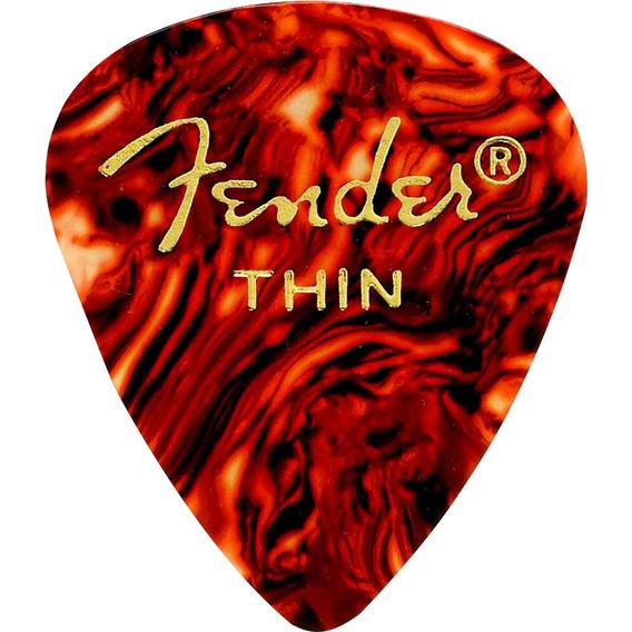 10 Palhetas Celuloide Musicos Profisionais Bandas Fender