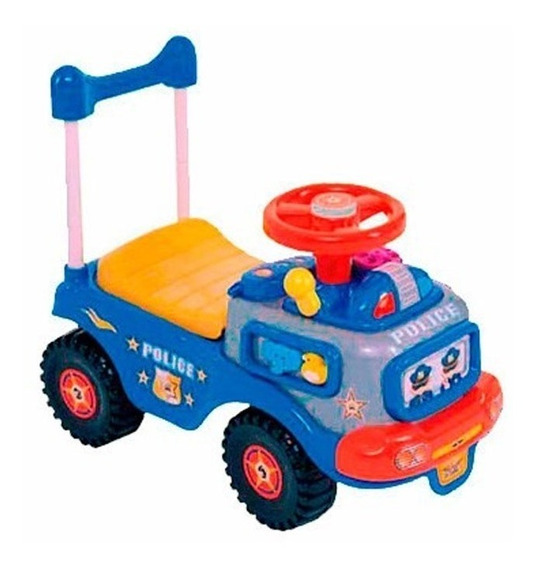 Montable Carro Impulso Policia Azul My-5561p My-toy
