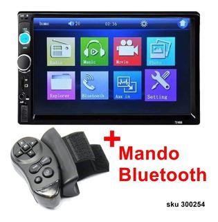 Radio Carro Pantalla Touch Mando Bluetooth W01