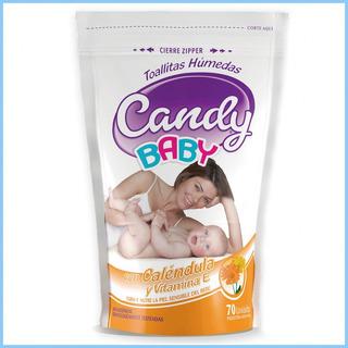 Toallitas Humedas Calendula Candy Baby 70 Uni X 24 Paquetes