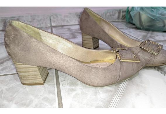 Sapato Social Salto Grosso Lindo Confortável Numero 38