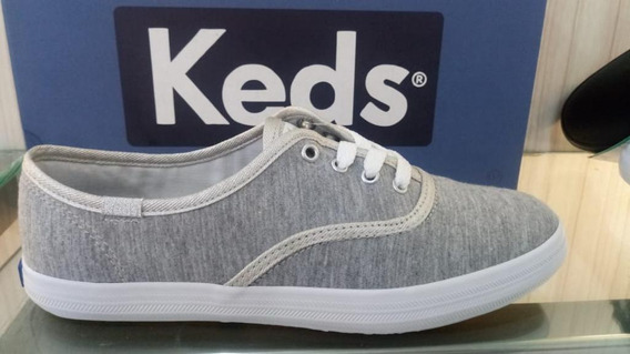 Kd102256 - Tênis Keds Champion Leather Cinza Original