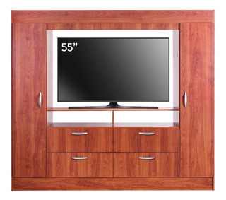Closet Baker Tv 55 Cic 2 Puertas 4 Cajones Cerezo