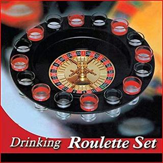 Juego De Ruleta Rusa Para Bebidas - Espacio Para 16 Shots