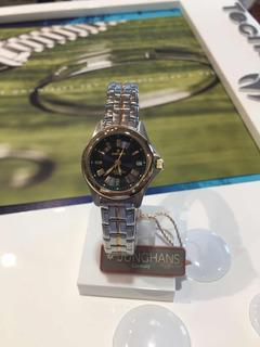 Reloj Pulsera Junghans De Dama Combinado Fecha Sumergible