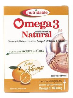Omega 3 Natural En Gotas X 60ml Vitamina E Aceite De Pescado