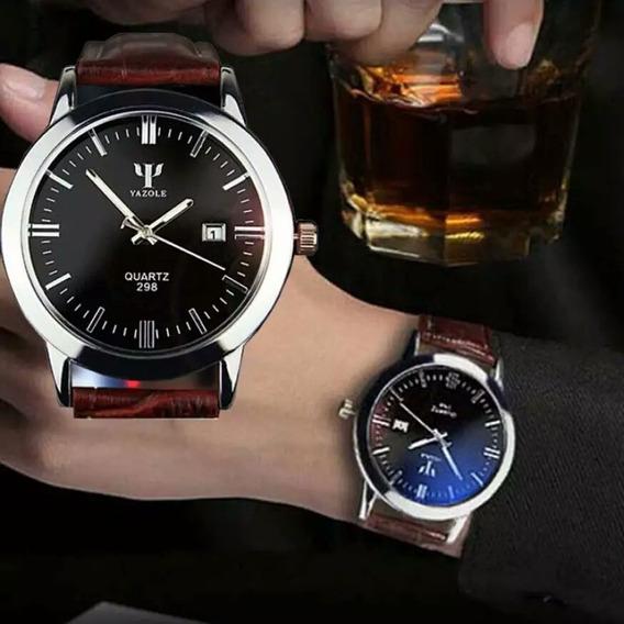 Yazole Mens Relógios Data Do Calendário Analógico Quartz Men