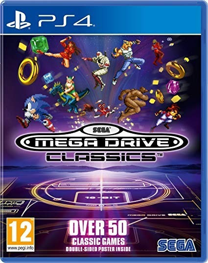 Sega Genesis Classics Ps4 Midia Fisica 50 Jogos Megadrive