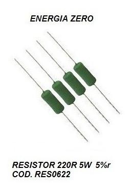 Resistor 220r 5w 5% Cod. Res0622