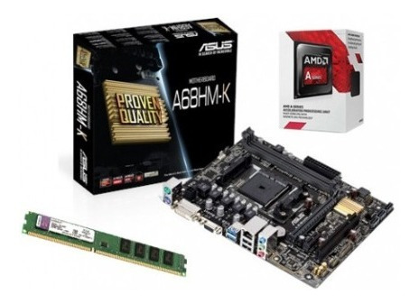 Kit Upgrade Amd A6-7480 + Asus A68hm-k + 4gb Ddr3